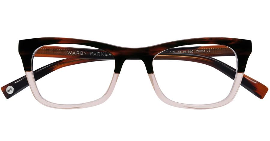 Warby-Parker_Simone_Tea-Rose-Fade_eyeglasses_topdown