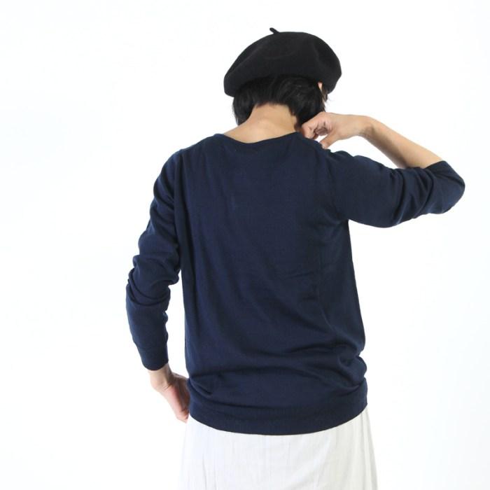 mao made (マオメイド) ウォッシャブルメリノウールVネックプルオーバー