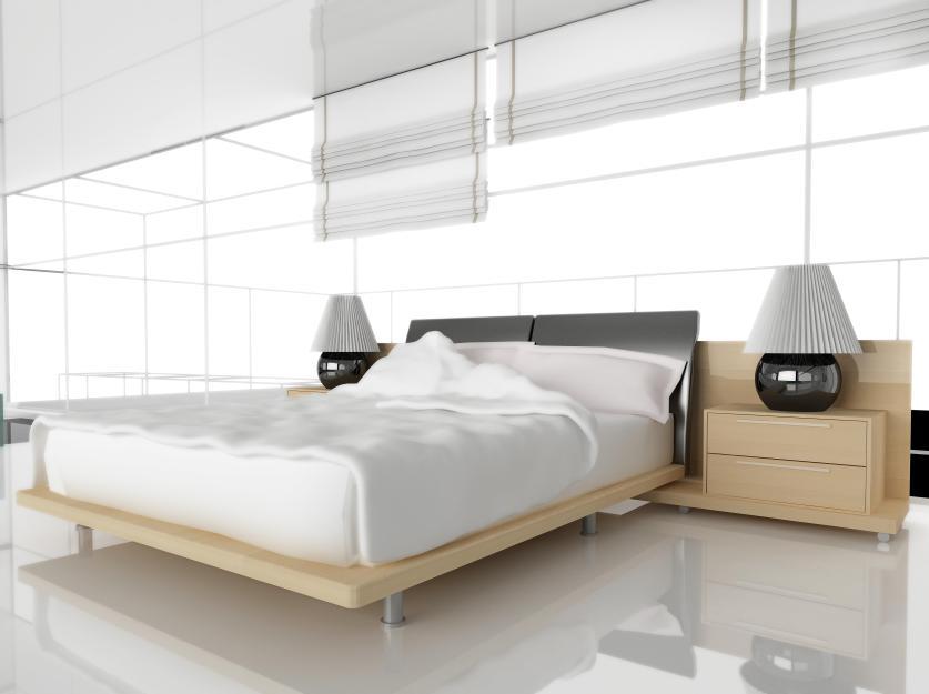 עיצוב חדר שינה עם בחירה נכונה של אלמנטים שונים ודגש על השימוש בצבע הלבן