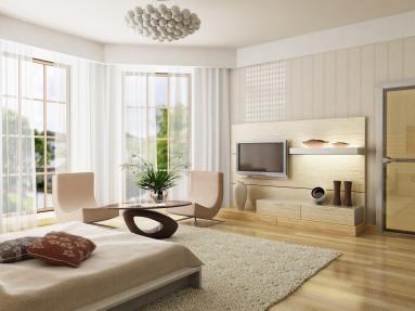 דירה מעוצבת תוך שמירה על תאורה טבעית שיוצרת תחושה של חלל גדול ומרווח.