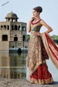 Pakistani Bridal Gold Wedding Dresses