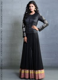 Black party wear dresses for girls; latest designs