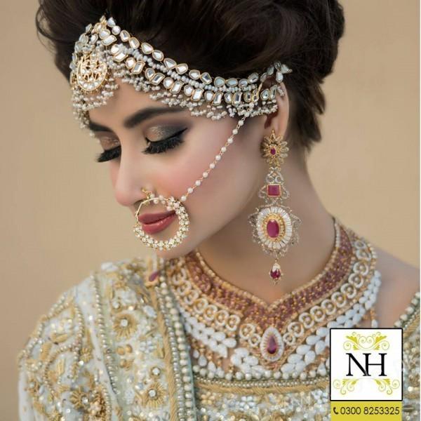 Sajal Ali Bridal Photoshoot For Nadia Hussain Salon