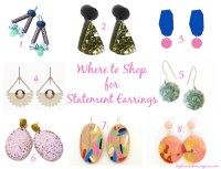 Where to Shop for Statement Earrings - Style & Shenanigans