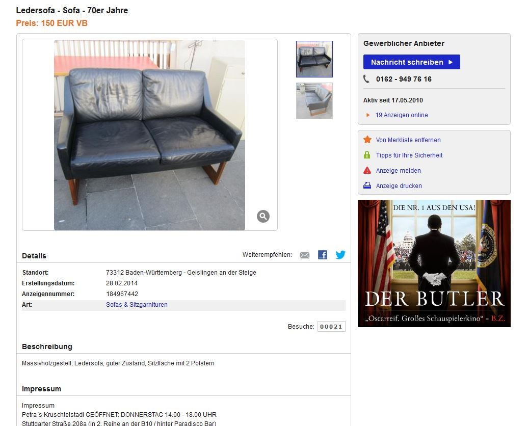 Kill International Rudolf B Glatzel Ledersessel Wingbackchair Kill International Rudolf B Glatzel Ledersofa Schwarz