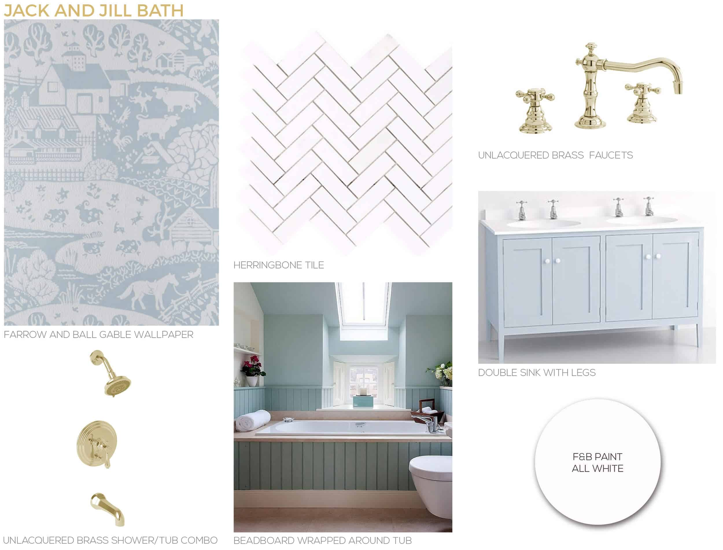Our New Jack And Jill Bathroom Plan Get The Look Emily Henderson