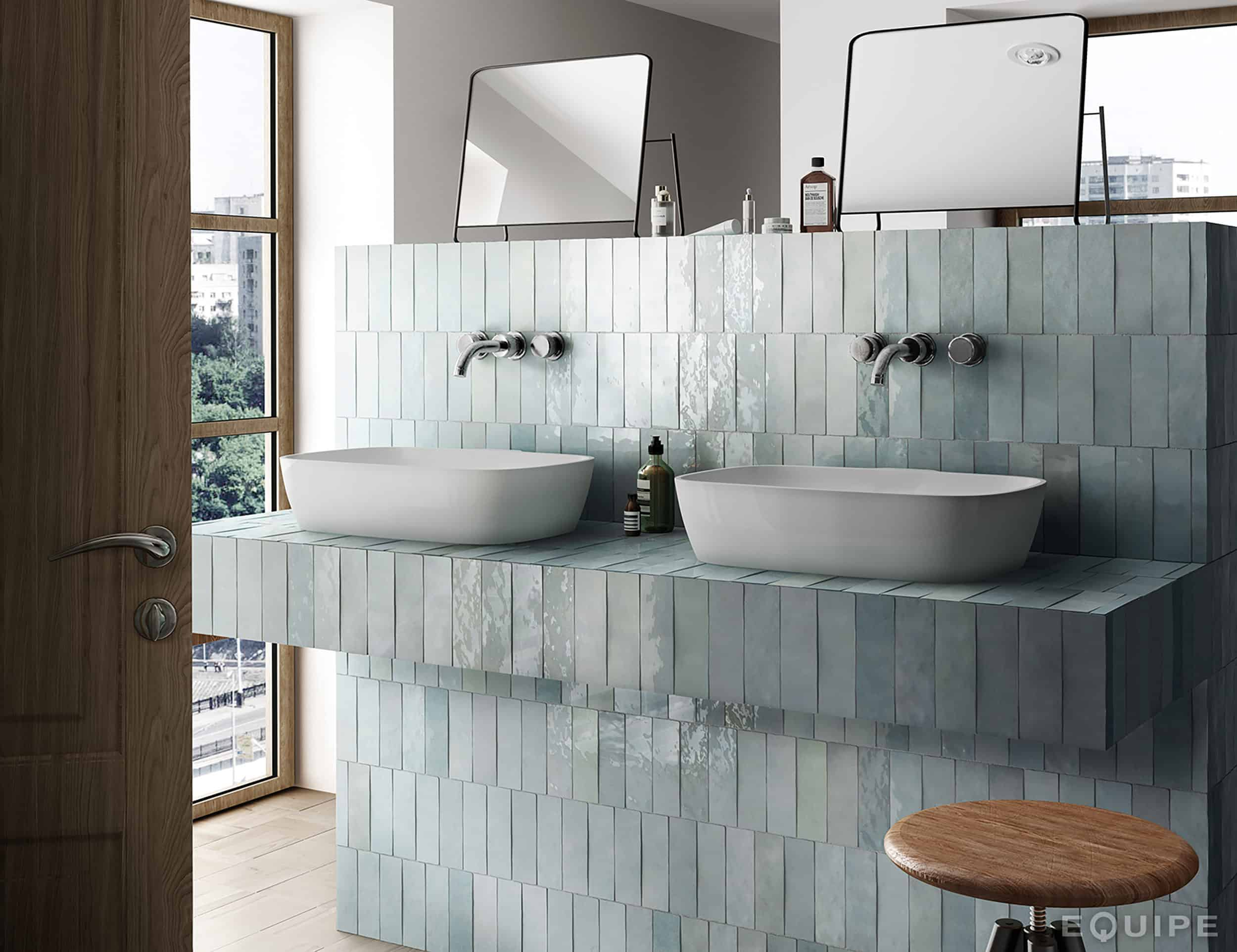 Bathroom Trends Are Stacked Tiles The New Subway Tile