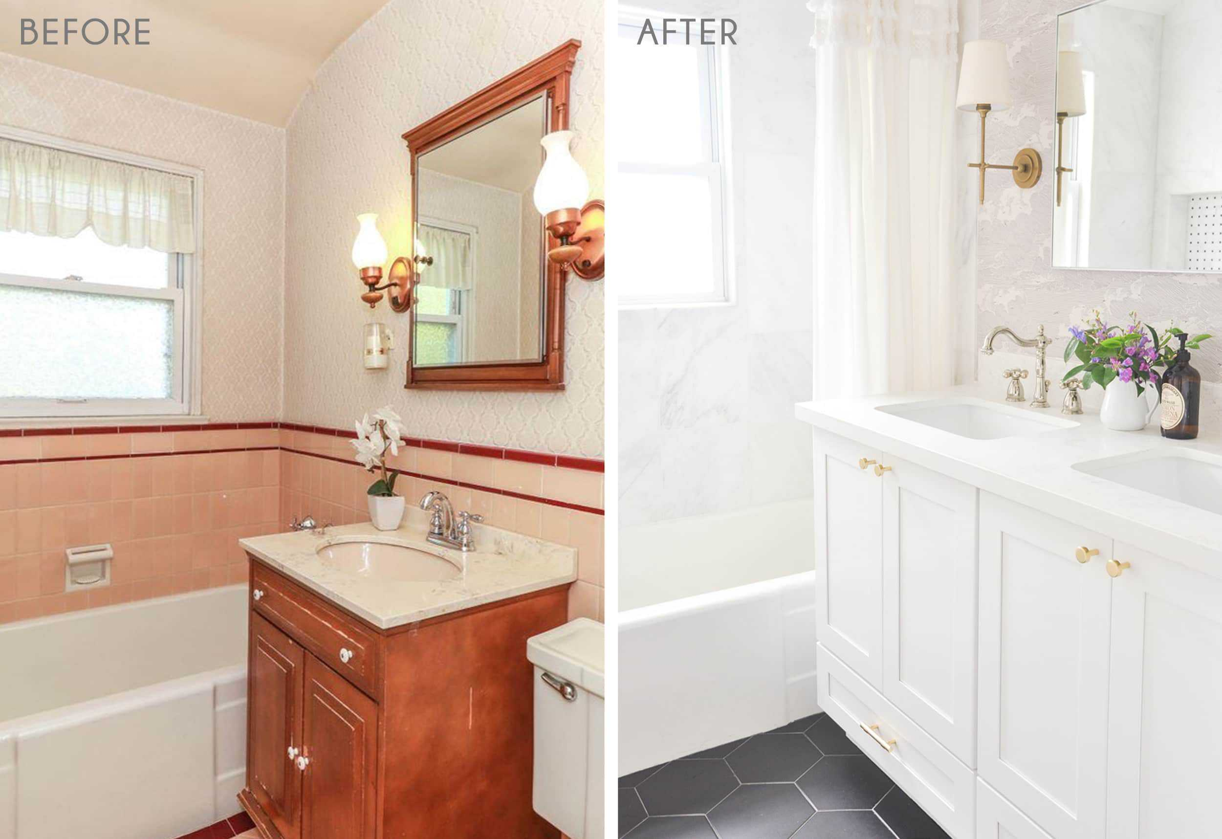 12 Diy Reader Bathroom Renovations Full Of Budget Friendly Tips Diys Real Cost And Timing Emily Henderson