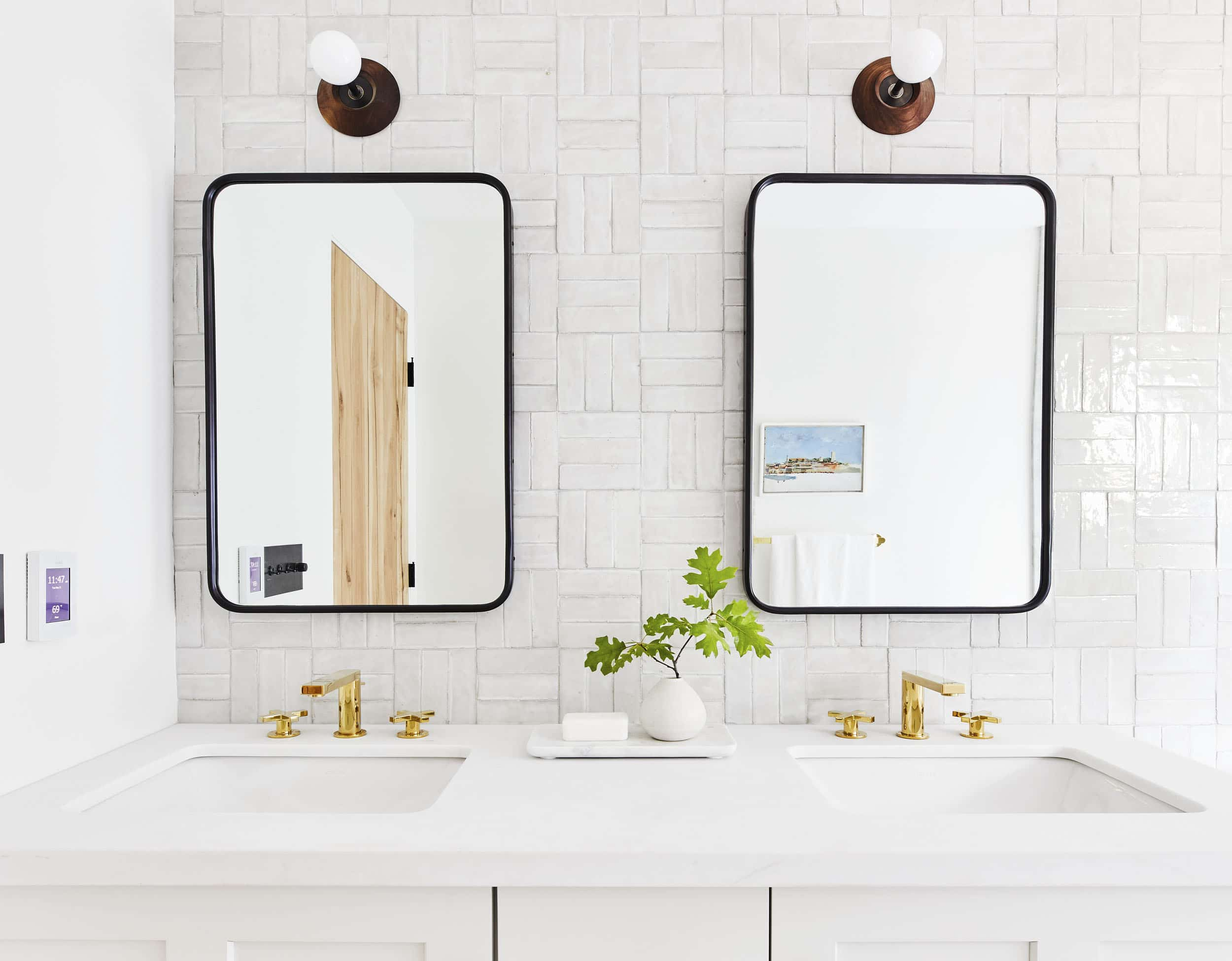 Mountain House Reveal How We Designed A Subtly Glam Modern Yet Happy Guest Bathroom