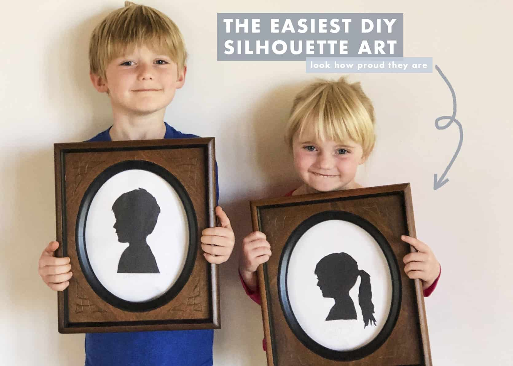 Weekend Art Project Easy Kids Diy Silhouette Portraits Emily Henderson