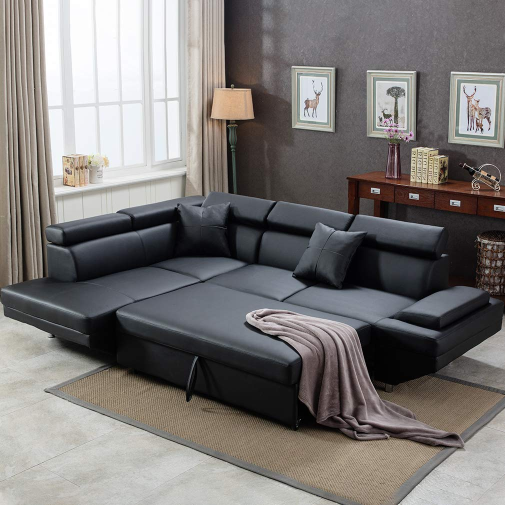 Fdw Sectional Sofa For Living Room Futon Sofa Bed Stylebywood