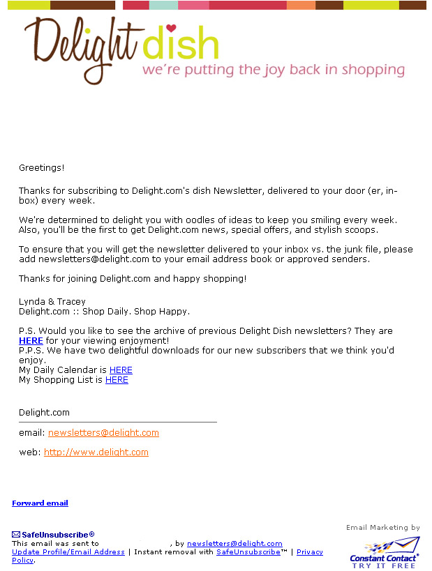 The welcome email - donu0027t blow the first date - email marketing sample