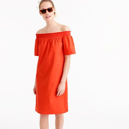 jcrew off the shoulder dress