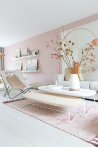 Blush pink and grey living room, how to pull off the look