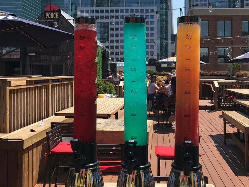 Toronto Weather Drink Margarita Towers At This Bar In Toronto All Summer Long