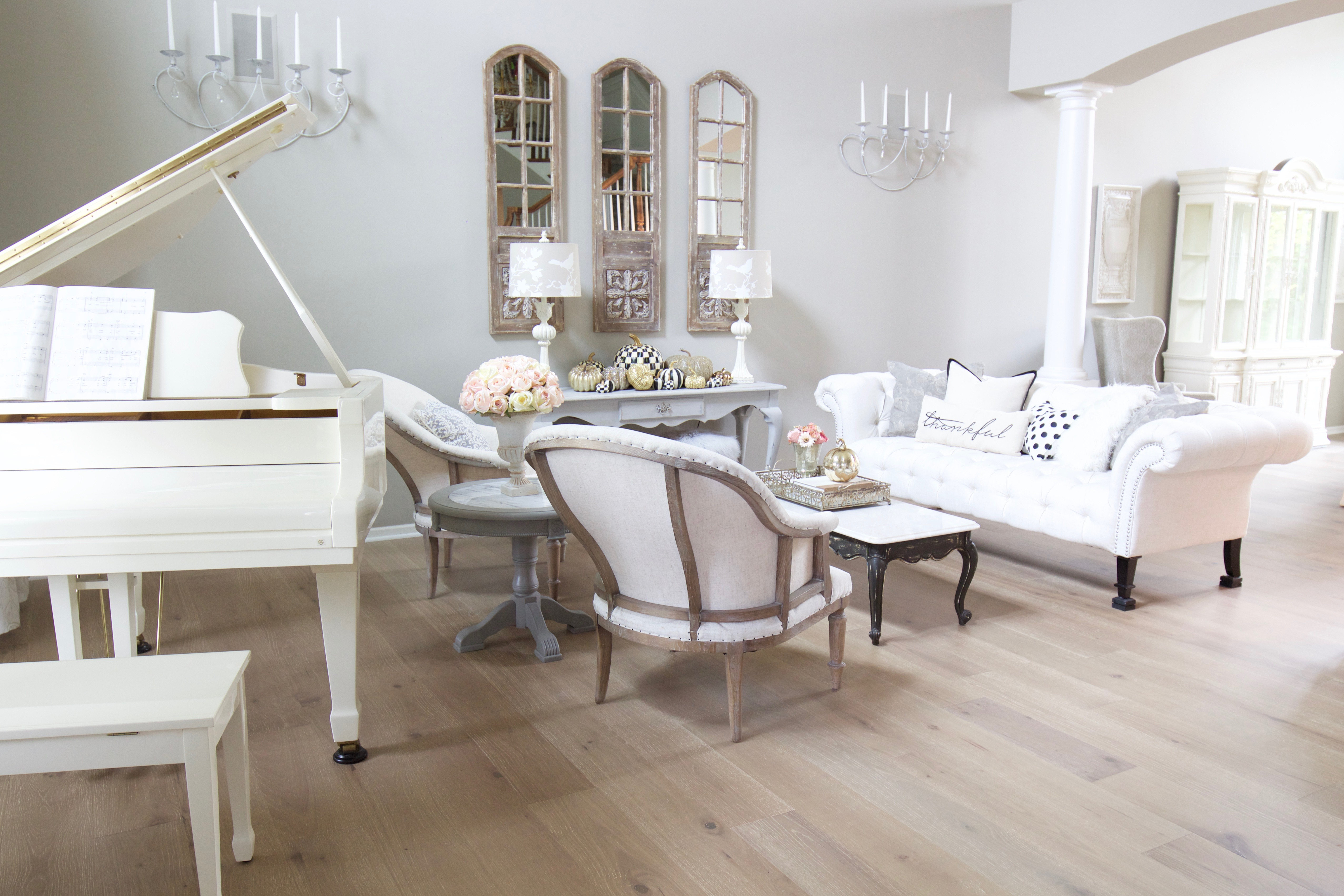 Living Room In French French Glam Living Room Reveal With New Wood Floors Styled With Lace
