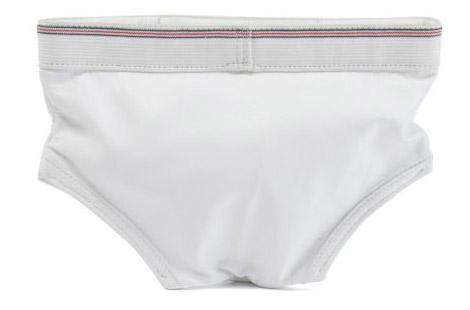 Jeremy Scott white undies clutch