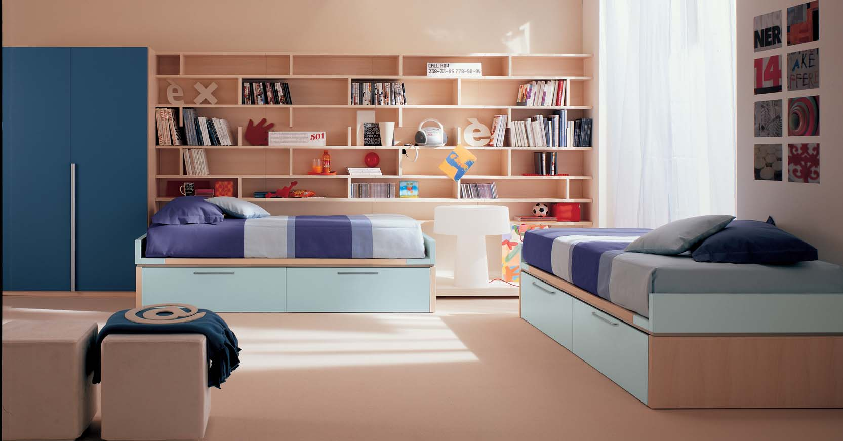 Bookshelf Ideas For Bedroom Kids Bedroom With Book Shelves Stylehomes