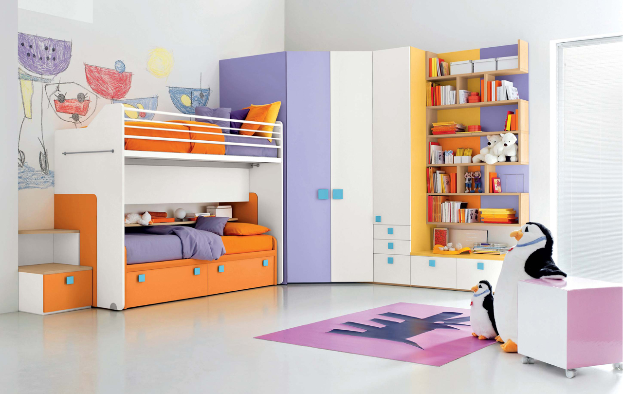 Child Room Furniture Creative Colorful Kids Bedroom Stylehomes