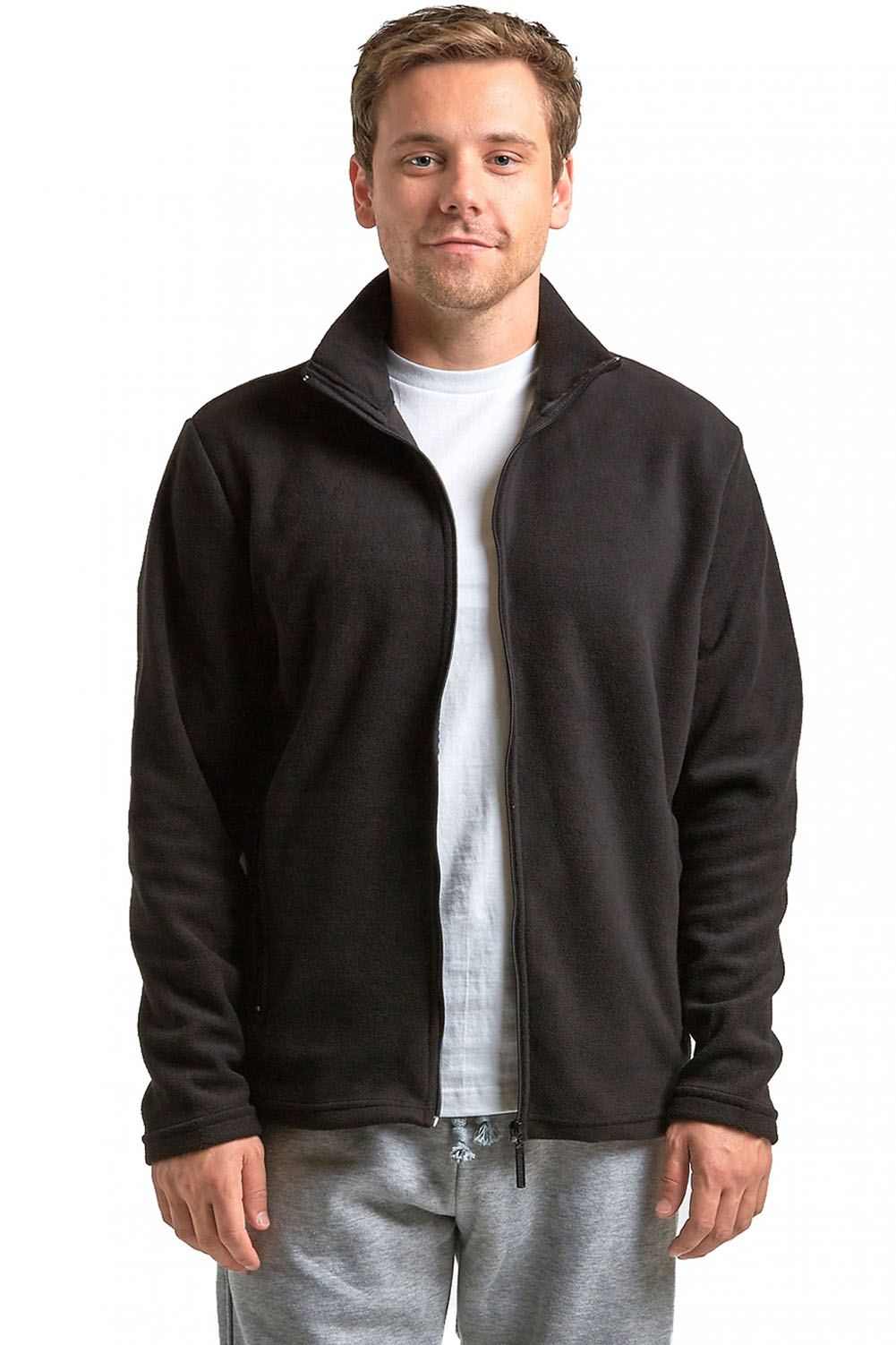 Polar Fleece Bettwäsche Knocker Mens Polar Fleece Jacket Zip Up Winter Light