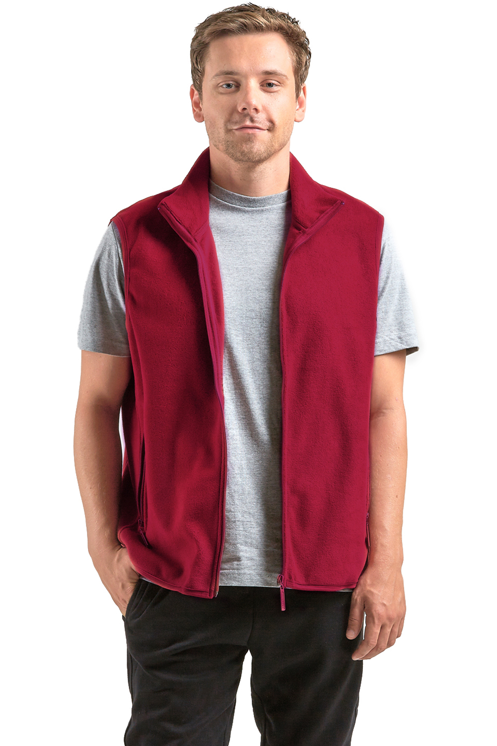 Polar Fleece Bettwäsche Men Polar Fleece Vest Zip Up Sleeveless Jacket Warm Winter