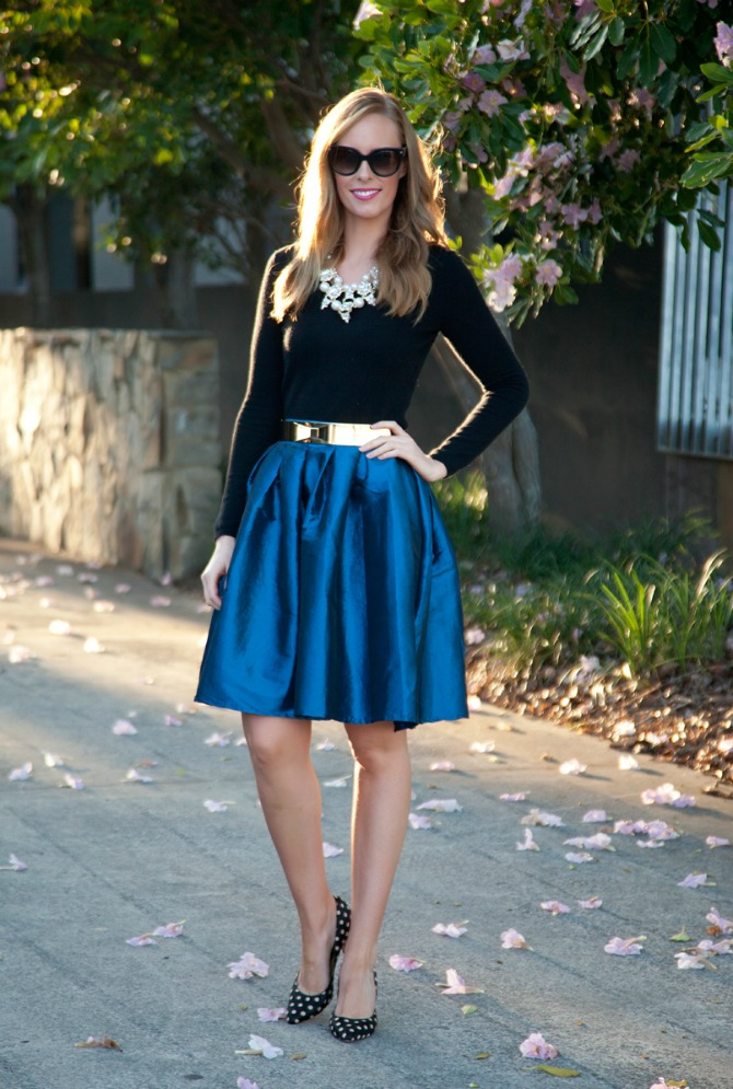 22 Style Sessions Fashion Link Up: Spring Style   Cobalt Skirt