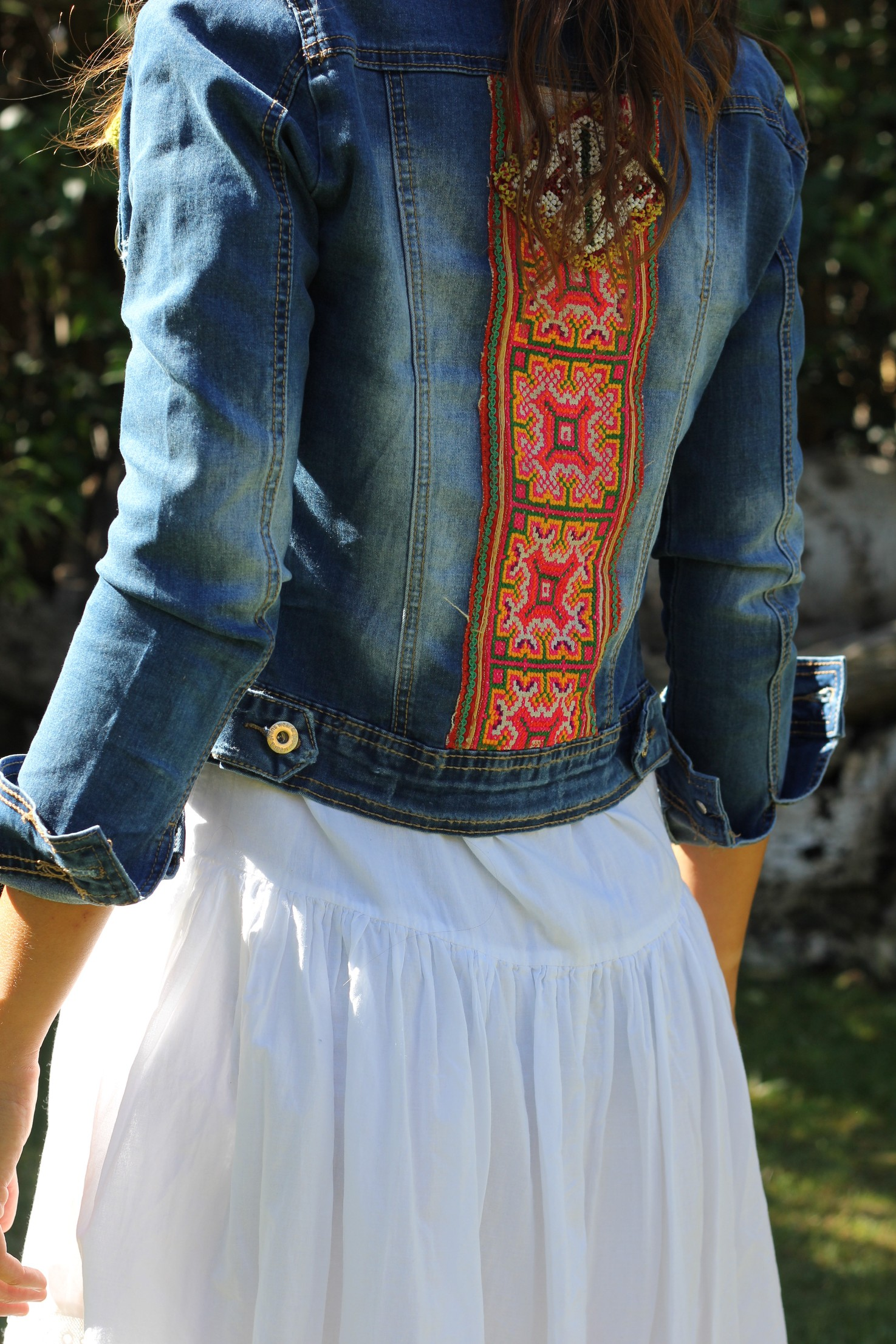Hippie Boho Style Denim Ethnic Jacket - Mytenida