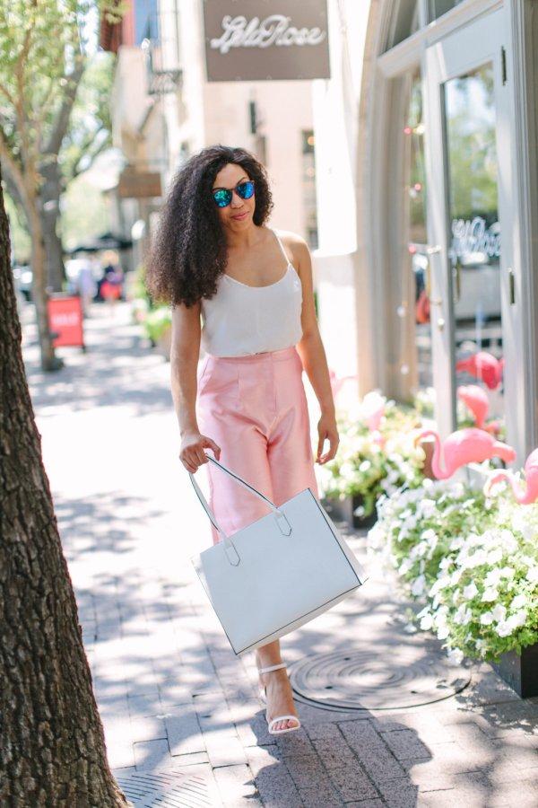ASOS Pink Culottes , NYC Summer Style,Kaylah Burton