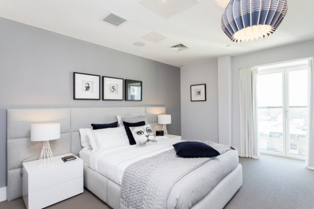 20 Beautiful Gray Master Bedroom Design Ideas Style - Chambre Ado Grise
