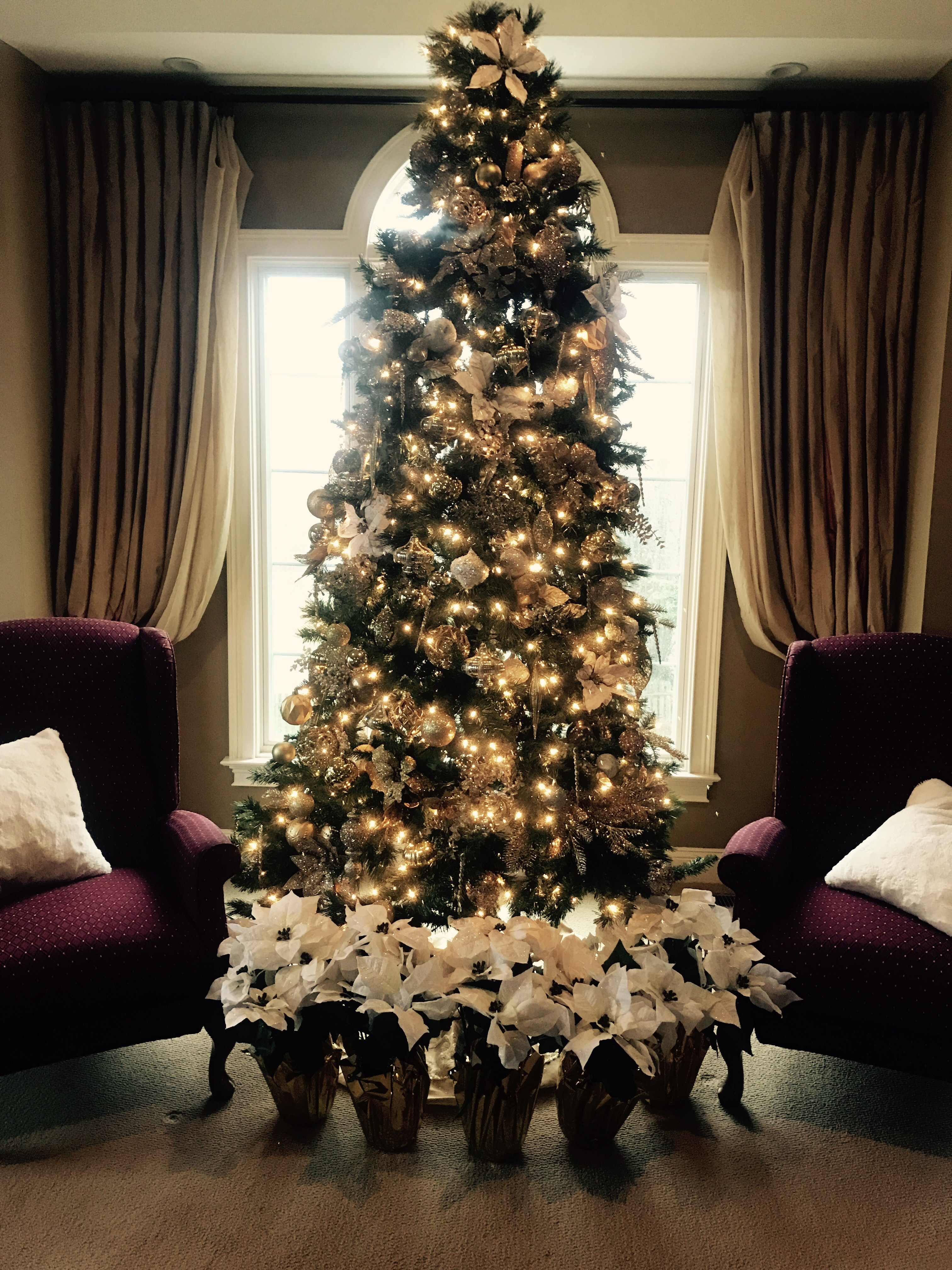 Zilveren Kerstboom Classic And Elegant White Gold And Silver Christmas Trees