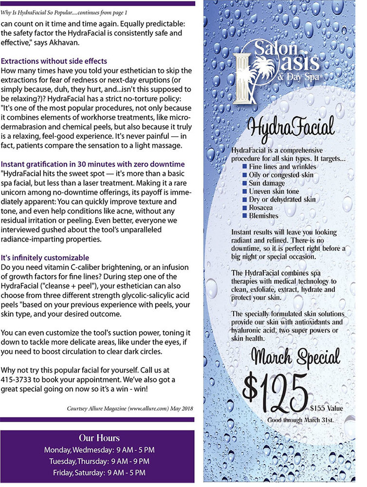 Monthly Newsletter - Hair Salon  Spa Kansas City MO Salon Oasis