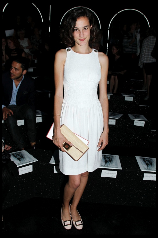 Nine d'Urso attends the Chanel Haute Couture Fall Winter 2011 Collection at The Grand Palais