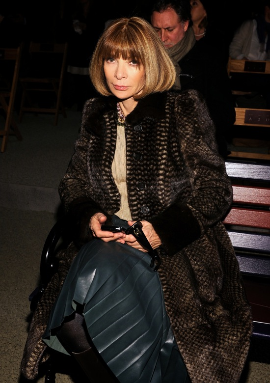 Tommy Hilfiger Fall Winter 2012 Front Row Anna Wintour