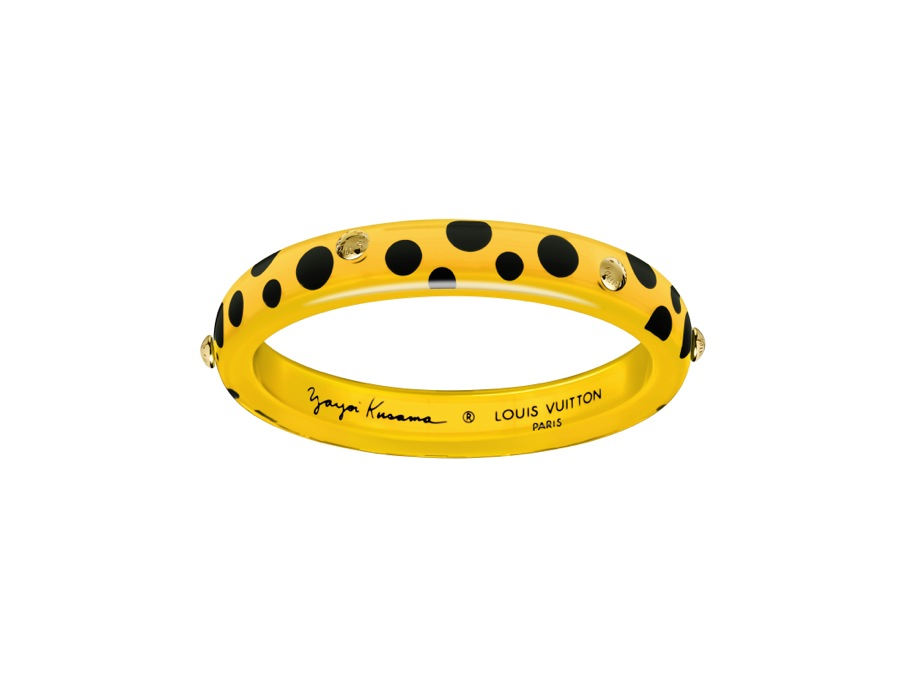 Yayoi Kusama Louis Vuitton Bangle PM Dots Infinity yellow