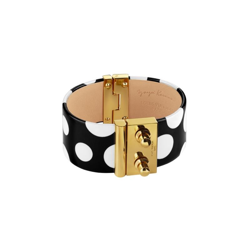 Yayoi Kusama Louis Vuitton Cuff Dots Infinity black