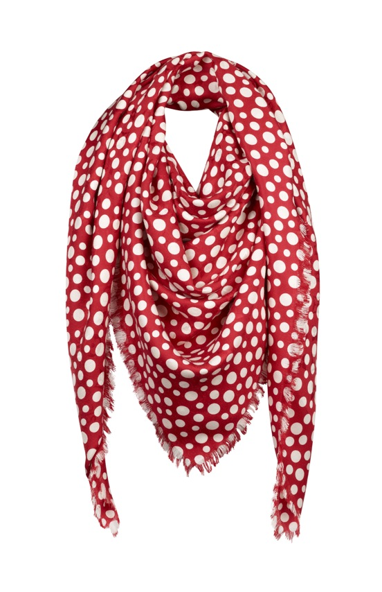 Yayoi Kusama Louis Vuitton Monogram Shawl Dots Infinity red