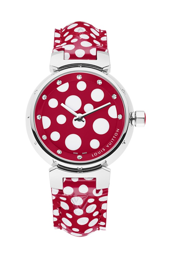 Yayoi Kusama Louis Vuitton Montre Tambour Dots Infinity 28 mm