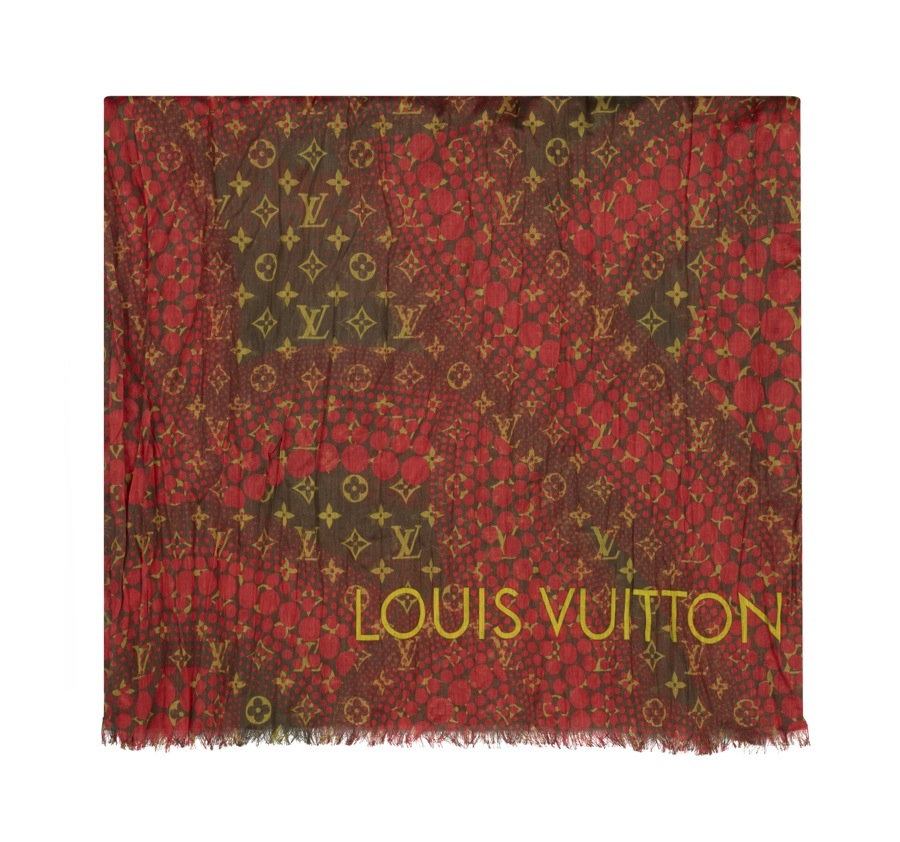 Yayoi Kusama Louis Vuitton Pareo Monogram Waves red