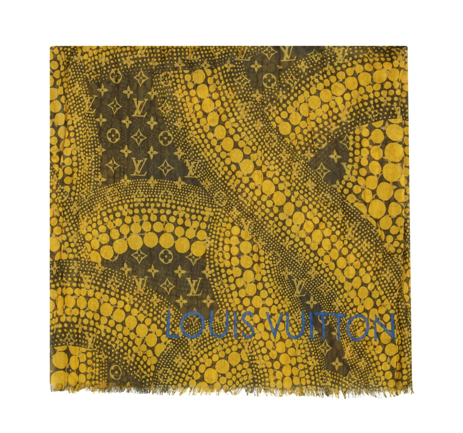 Yayoi Kusama Louis Vuitton Pareo Monogram Waves yellow