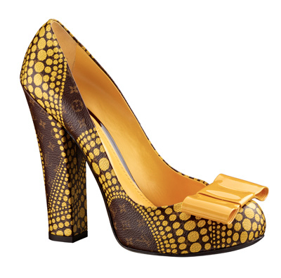 Yayoi Kusama Louis Vuitton Pump Monogram Waves yellow