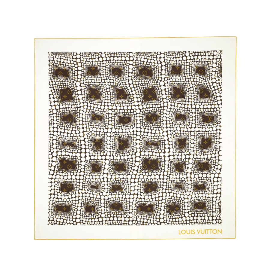 Yayoi Kusama Louis Vuitton Square Monogram Town white