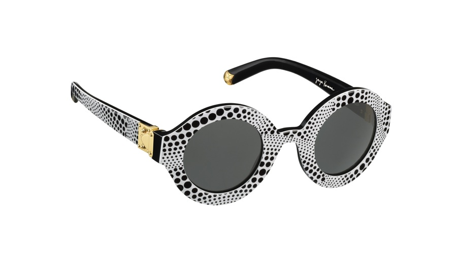 Yayoi Kusama Louis Vuitton Sunglasses Waves Rond White