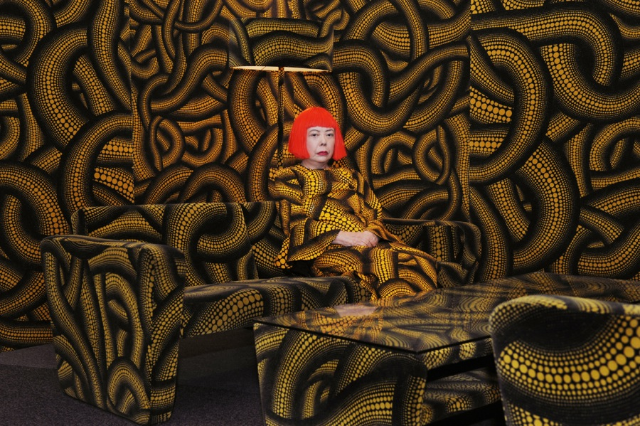 Yayoi Kusama in Yellow Tree Furniture