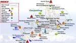 Darjeeling Urism Map
