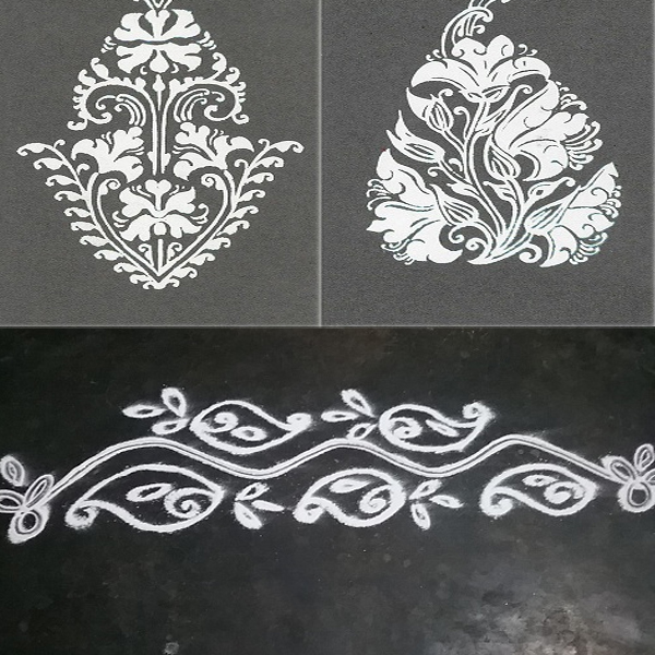 9 Easy White Rangoli Designs with Pictures Styles At Life