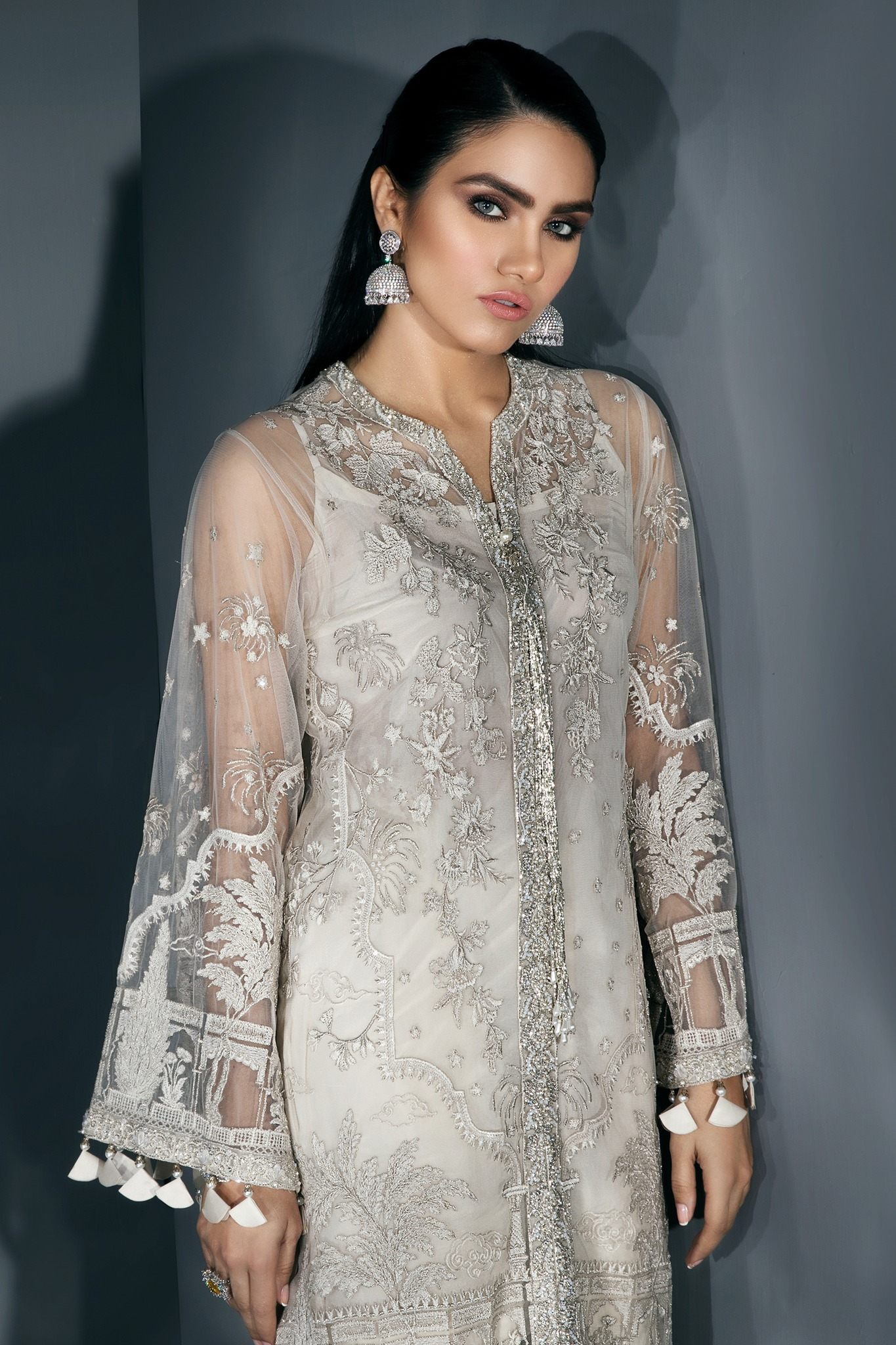 Latest Pictures Pakistani Party Wear Embroidered Shirts 2019 2020 Latest Designs