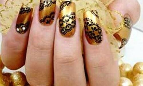 Western Golden Shade Nails Pinterest