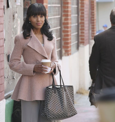 Photo courtesy of ABC. Armani Peplum Peacoat