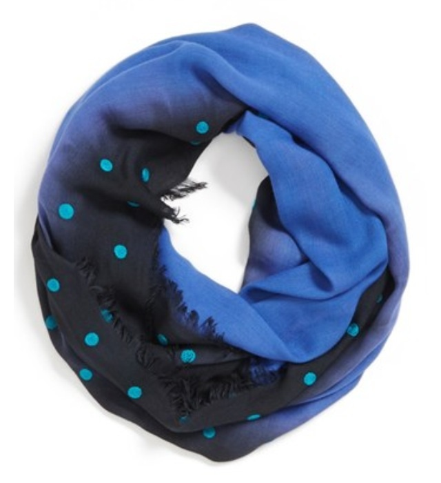 Nordstrom Collection XIIX Ombré Infinity Scarf...with polkadots!  Yesss polkdaots!