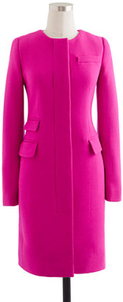J Crew Vibrant Fuchsia Double Cloth Symphony Coat